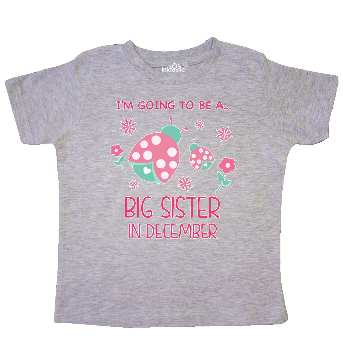 inktastic Im Gonna Be a Sister in December with Ladybugs Toddler T-Shirt