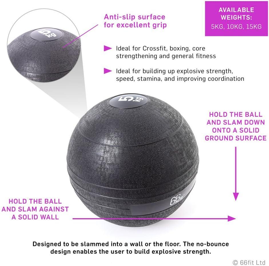 66 Fit - Pelota lastrada, Color Negro Negro Negro Talla:5 kg: Amazon.es: Deportes y aire libre