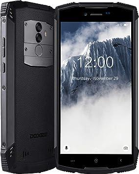 Movil Resistente DOOGEE S55 Smartphone Al Aire Libre Robusto 4G, Doble SIM Libre Android 8.0 Celular, IP68 Teléfono Móvil 4+64GB, 5,5 Pulgadas HD GPS/5500mAh/Cámara 13+8MP/Face ID Smartphone, Negro: Amazon.es: Electrónica
