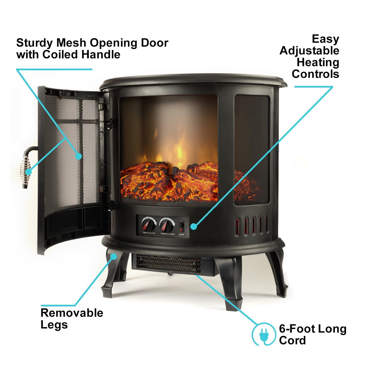 regal electric fireplace e flame usa 25 inch black portable