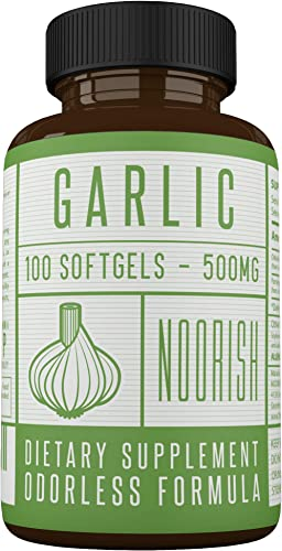 Odorless Garlic Pills – Garlic and Parsley – Premium Garlic Supplement – 500mg 100 Count