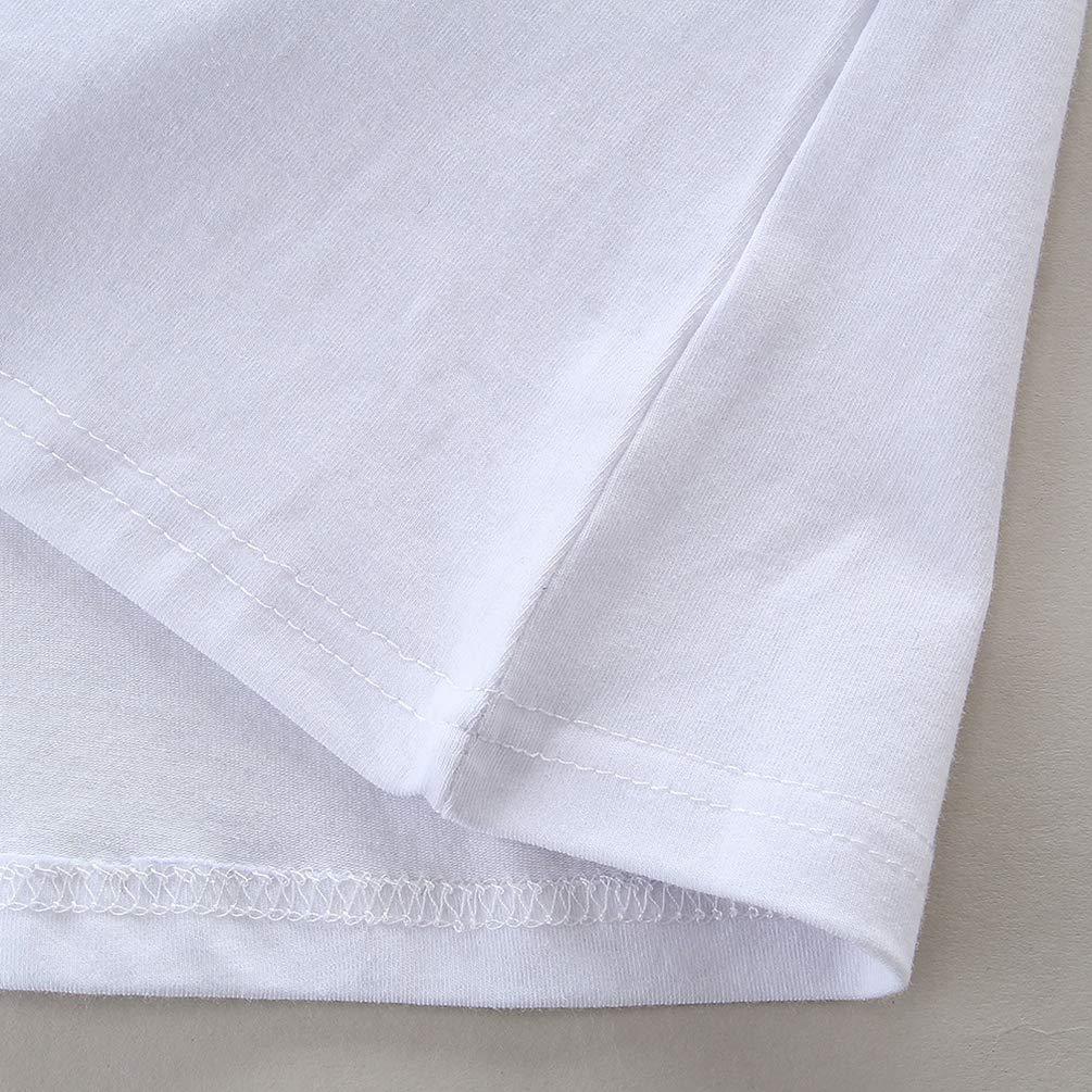 Jitong 2 Pezzi Set di Abbigliamento per Madre e Figlia Manica Corta T-shirt Stampata Pois Gonna a Matita Estivi