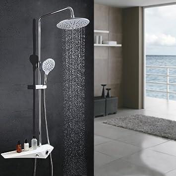 Homelody 3 Funciones Columna de ducha Conjunto de Ducha con Barra ...
