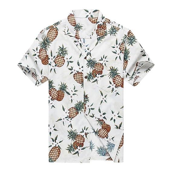 Buy Made in Hawaii Men's Hawaiian Shirt Aloha Shirt 2XL Golden ...