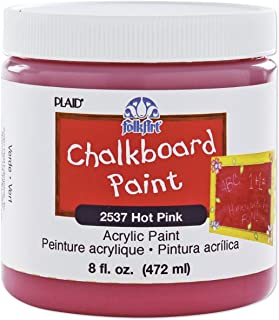 product image for FolkArt Chalkboard Paint in Assorted Colors (8 Ounce), 2537 Hot Pink