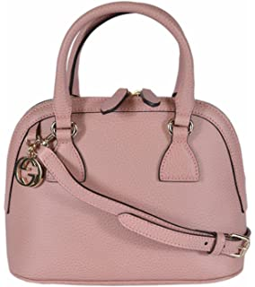 5d910a40839c79 Gucci Women's Leather 2-Way Convertible GG Charm Small Dome Purse (Soft  Pink)