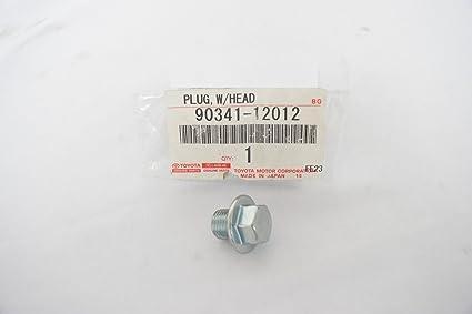 2005 toyota corolla oil drain plug size