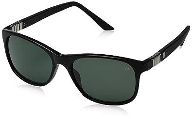 70599f3352 Amazon.com  TAG HEUER 66 9382 301 541703 Oval Sunglasses Black 54 mm ...