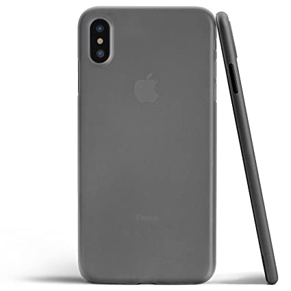 online store 97e49 9eb29 totallee iPhone X Case, Thinnest Cover Premium Fit Ultra Thin Light Slim  Minimal Anti-Scratch Protective - for Apple iPhone X (2017) (Grey)