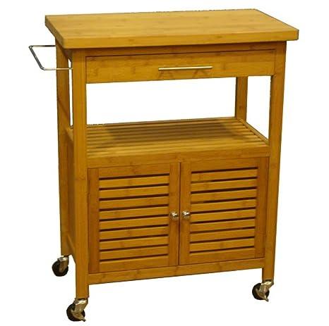Bambus Küchenwagen Holz Servierwagen Küchen Tisch Rollwagen ...