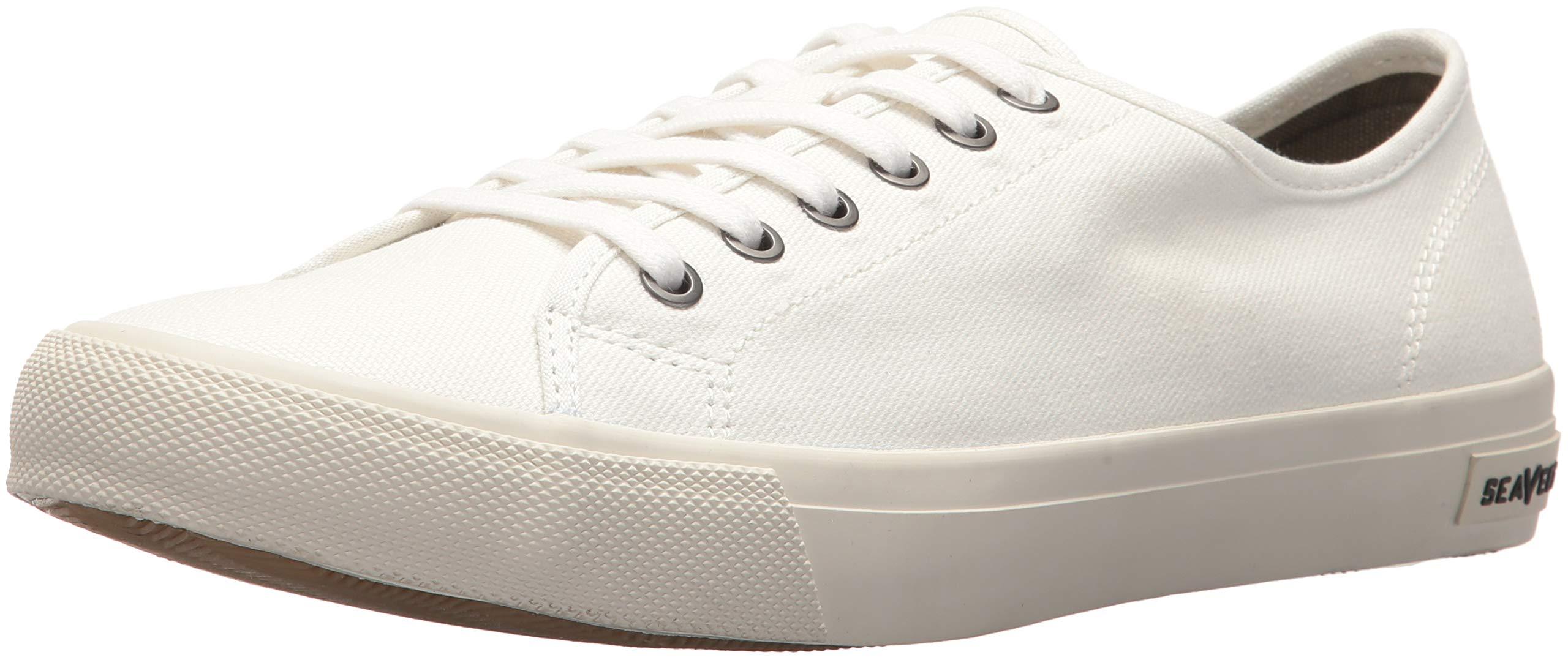 SeaVees Men's Monterey Standard Sneaker, White, 10.5 M US