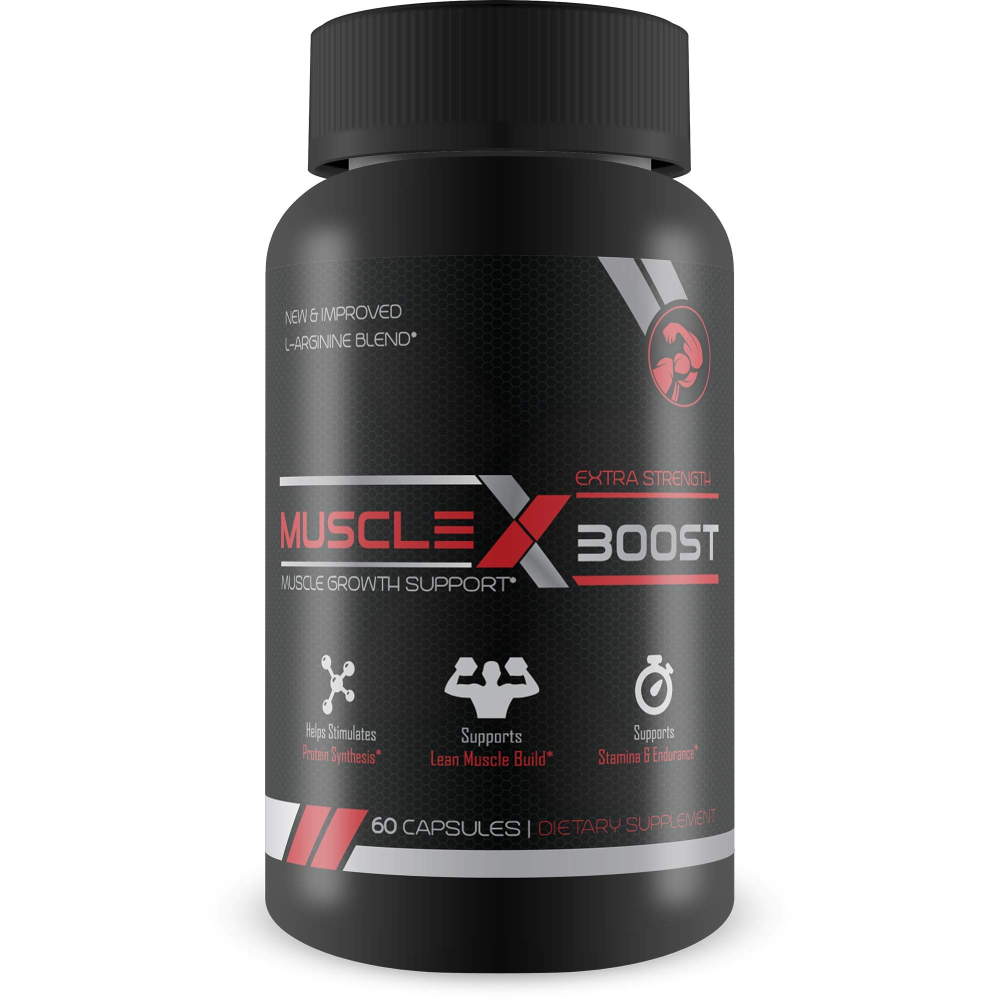 Best Selling- Muscle X Boost- Premium L-Arginine Formula- Extra Strength Muscle Growth Support- Nitric Oxide Booster-Build Lean Muscle-Stimulates Protein Synthesis-Boost Endurance by Muscle X Boost
