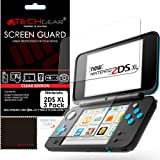 TECHGEAR [3 Pack] Screen Protectors for Nintendo 2DS XL Top & Bottom - Clear Lcd Screen Protector Guard Covers Compatible with Nintendo 2DS XL Top & Bottom