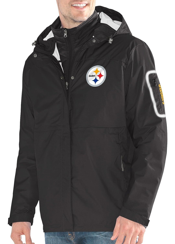 ピッツバーグスティーラーズg-iii NFL「acclimate」システム3 - in - 1プレミアムフード付きジャケット Medium  B073SC1W66