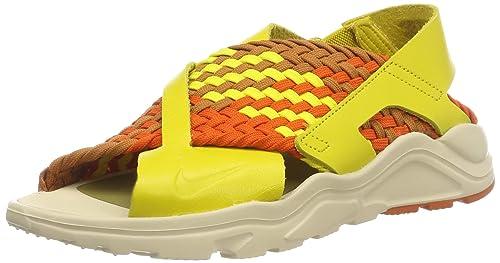san francisco 462a2 eeb06 Nike Women s W Air Huarache Ultra Fitness Shoes Multicolour (Bright Citron  Monarch Campfire
