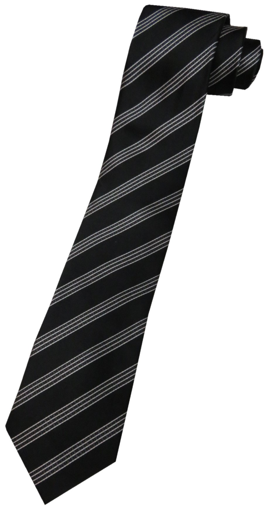 Donald Trump Neck Tie Black and Silver Striped by Donald Trump (Image #1)