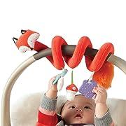 Manhattan Toy Travel + Comfort Fox Activity Spiral Baby Toy
