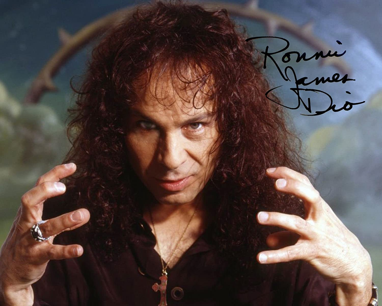Ronnie James Dio metal god reprint signed autographed photo RP #1