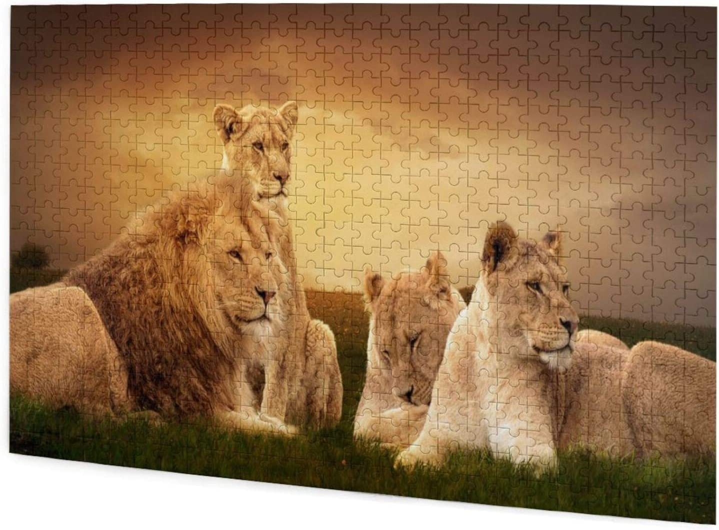 Animal African Lion Jigsaw Puzzles for Adults Children Family Game Gift Home Wall Decor 500pcs Puzzle