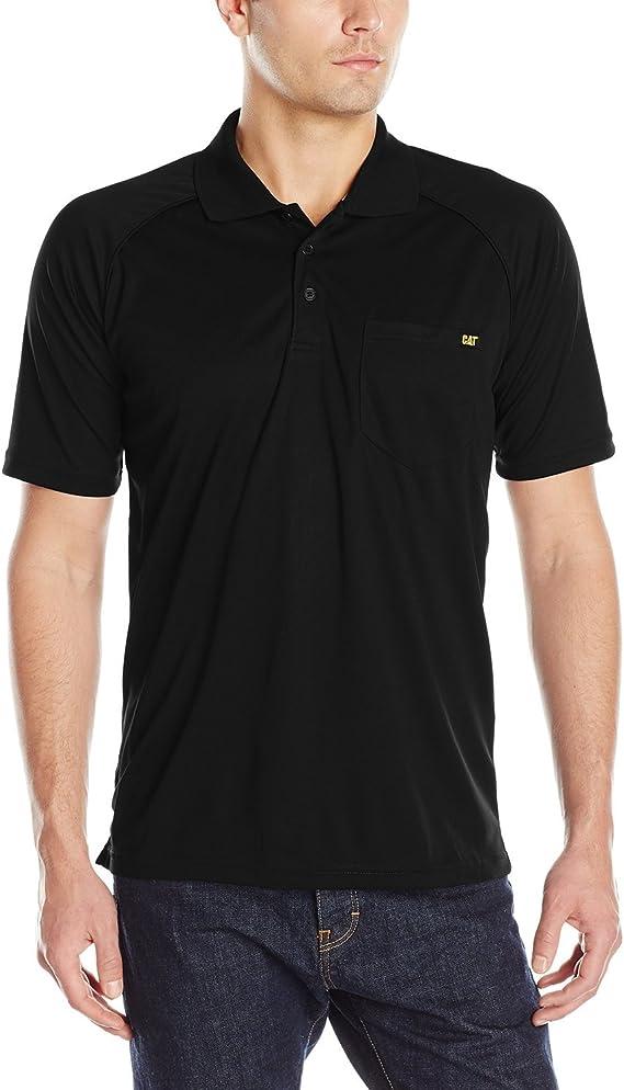 Polo cuello cerrado Caterpillar negro/amarillo XL: Amazon.es: Ropa ...