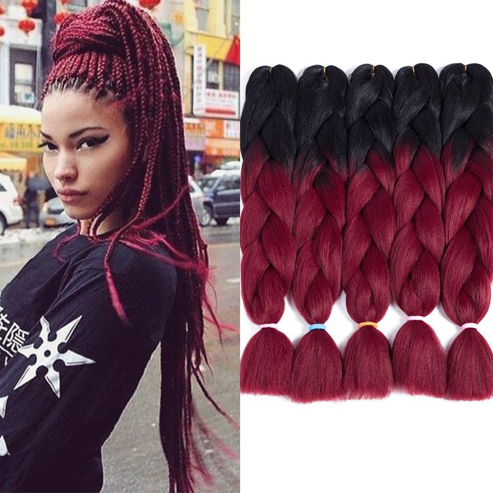 Amazon Two Tone Ombre Jumbo Braid Hair Extension For Braids
