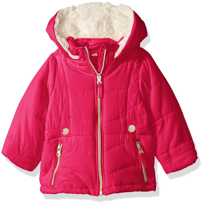 Jessica Simpson Baby Girls Satin Bubble Jacket