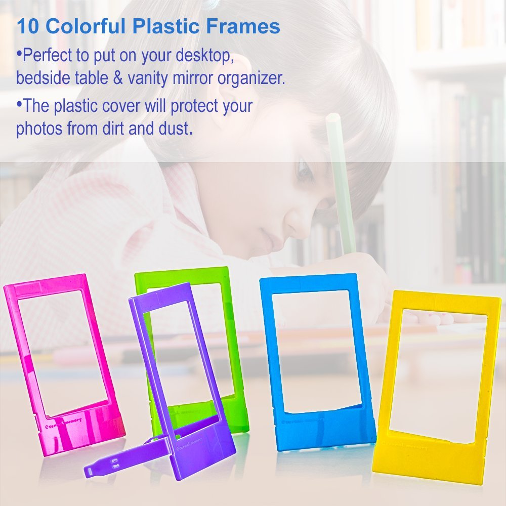5 in 1 Giant Colorful Bundle Kit Accessories for Fujifilm Instax Mini 9/8 Camera - Assorted Accessory Pack of 120 Sticker Frames + 10 Plastic Desk Frames + 20 Hanging Frames + MORE by Deals Number One (Image #5)