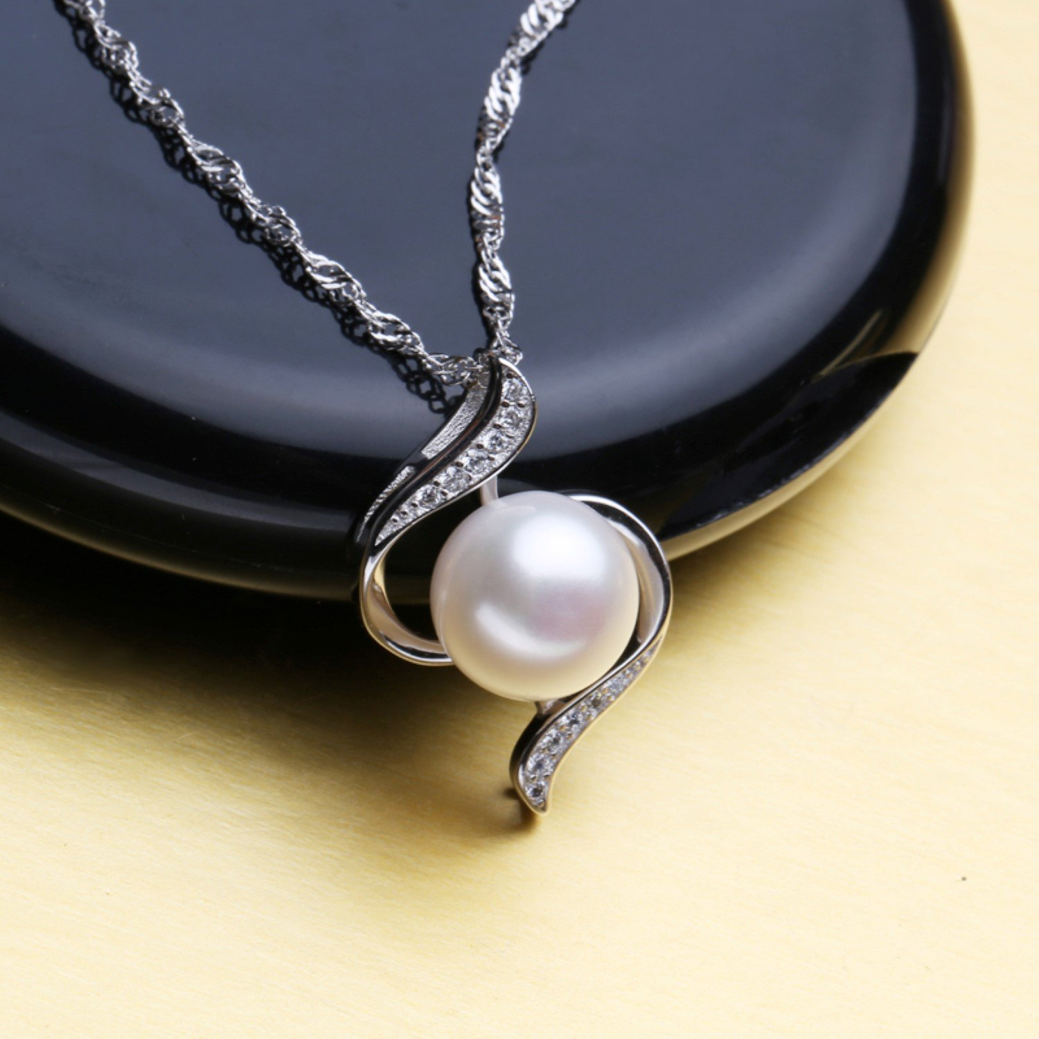 CS-DB Jewelry Silver Pearl Best Chain Charm Pendants Necklaces