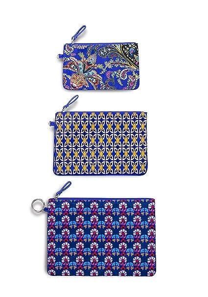 ebe6fcfbbf Amazon.com  Vera Bradley Women s Set of 3 Pencil Pouch Travel Bags ...