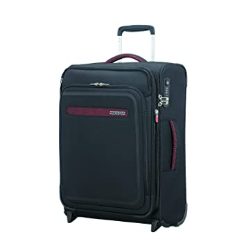 American Tourister Airbeat - Upright 55/20 Expandable Bagage cabine, 55 cm, 48 liters, Noir (Universe Black)