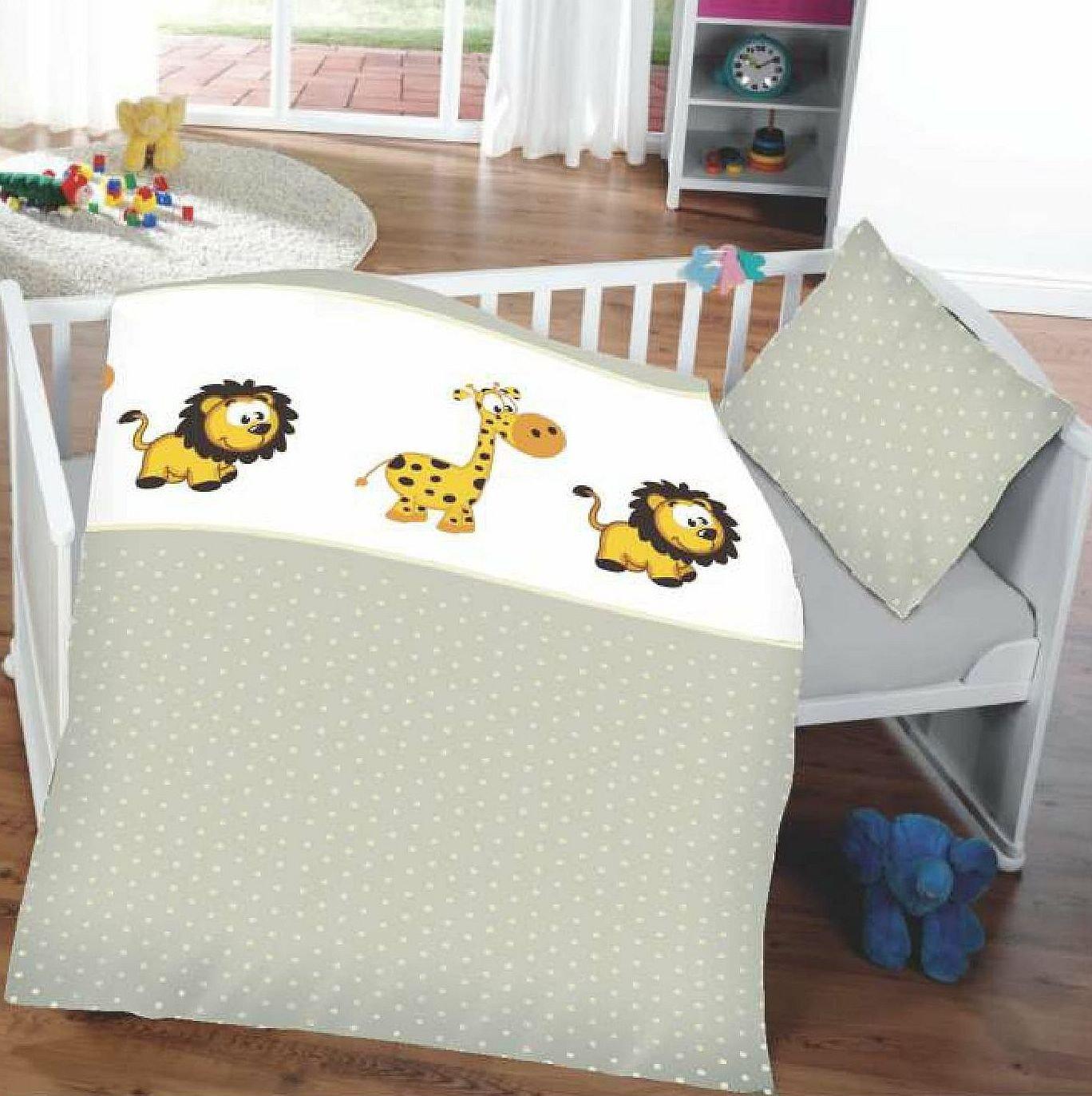 Kinderbettwäsche Babybettwäsche 100% Baumwolle 40x60 cm + 100x135 cm (Zoo) KiGATEX