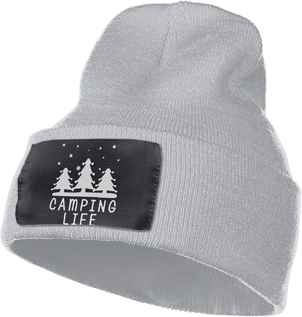 Beanie Camping Sign Happy Camper Knitted Hat Winter Skullcap Men Women