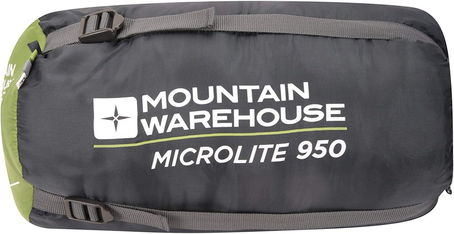 Mountain Warehouse Sleeping Bag Microlite 950 season 3 Walking Hiking Lightweight Compact