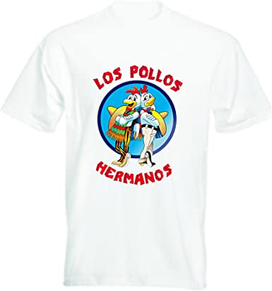 Camiseta de los Pollos Hermanos de Breaking Bad: Amazon.es: Ropa y accesorios