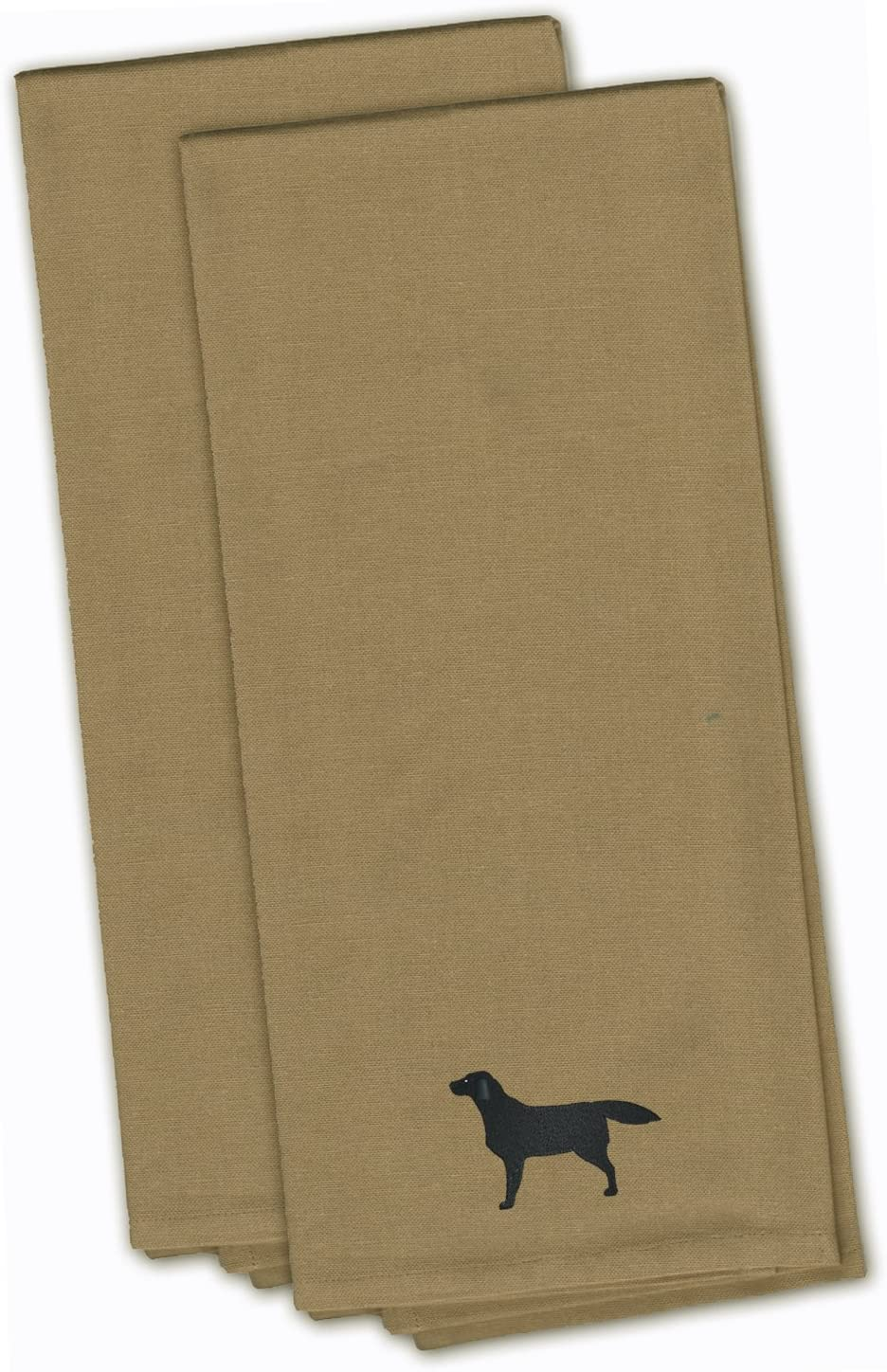 Amazon Com Caroline S Treasures Bb3408tntwe Black Labrador Retriever Tan Embroidered Kitchen Towel Set Of 2 19 X 25 Multicolor Kitchen Dining