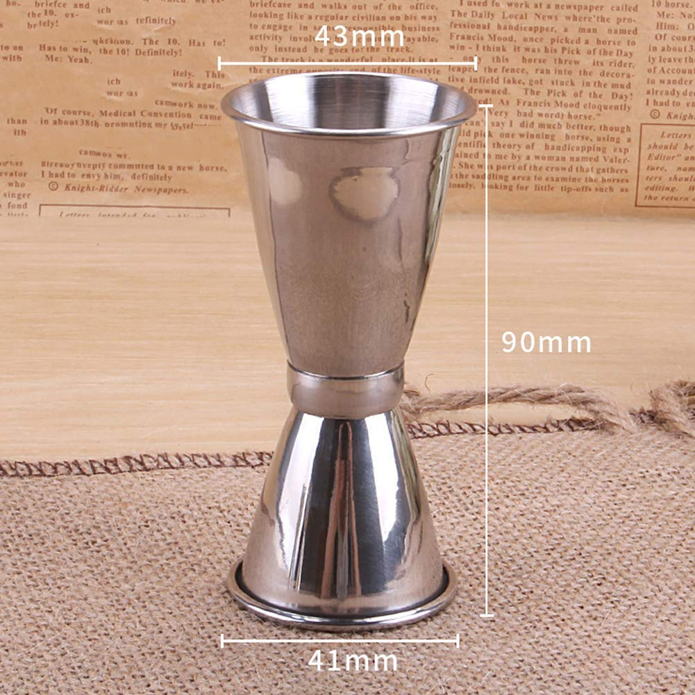 Yevison Stainless Steel Bar Double Jigger Cocktail Jigger Measuring Cups Jigger 1/2oz 1.5oz Measure Premium Quality by Yevison
