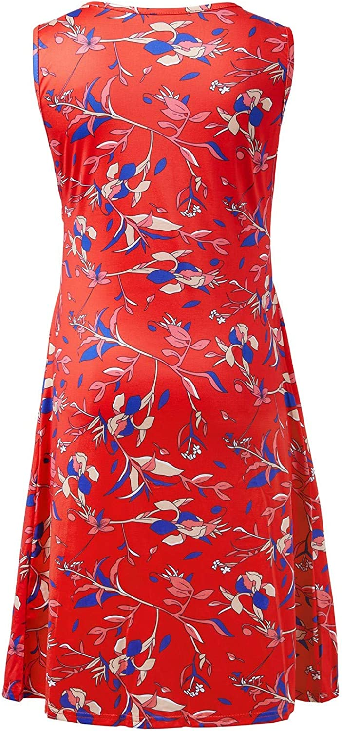 IFFEI Maternity Nursing Dress for Women Breastfeeding Pregnancy Sleeveless V Neck Floral Printed Delivery Gown
