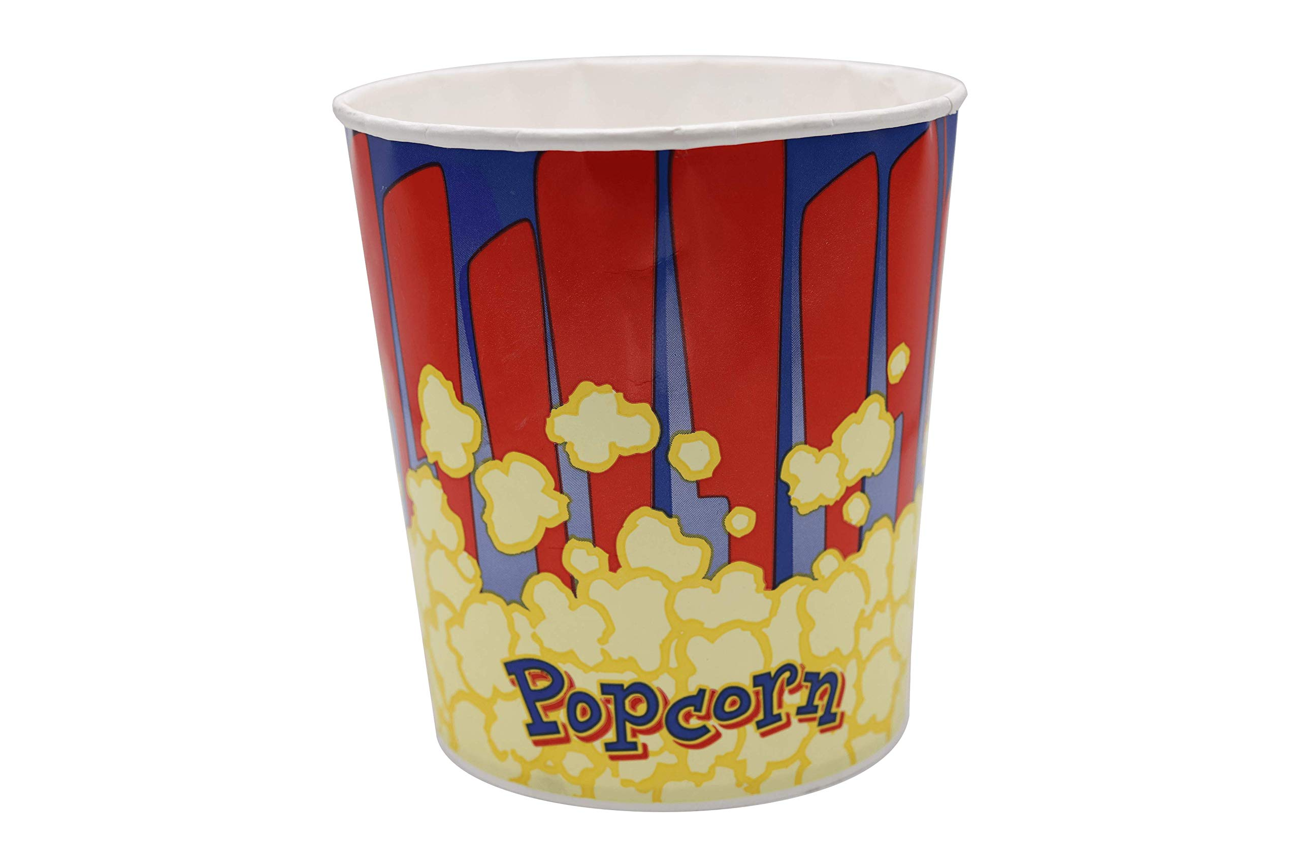 Beach Cities Wholesalers 130 oz Popcorn Tubs - Red & Blue 130 oz (300 count) by California Concessions Corp