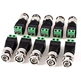 MERSK Bnc Connectors Screw Type (Green) For Cctv Camera,[ Pack Of 10Pcs. Connectors]