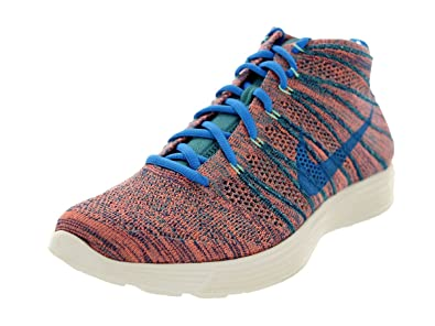 76e59af44 NIKE Lunar Flyknit Chukka Mens Running Shoes 554969-443 Brave Blue 8.5 M US