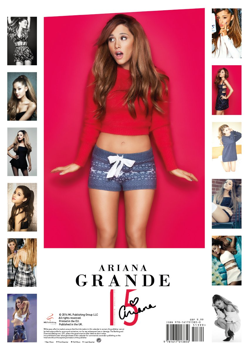 Ariana Grande Calendario.Amazon It Ariana Grande 2015 Calendar Ariana Grande