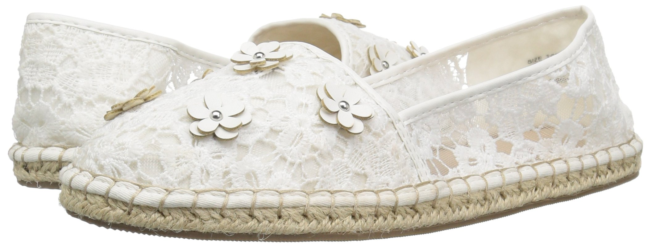The Children's Place Girls' BG Lace Espadril Slipper, White, Youth 3 Medium US Big Kid by The Children's Place (Image #6)