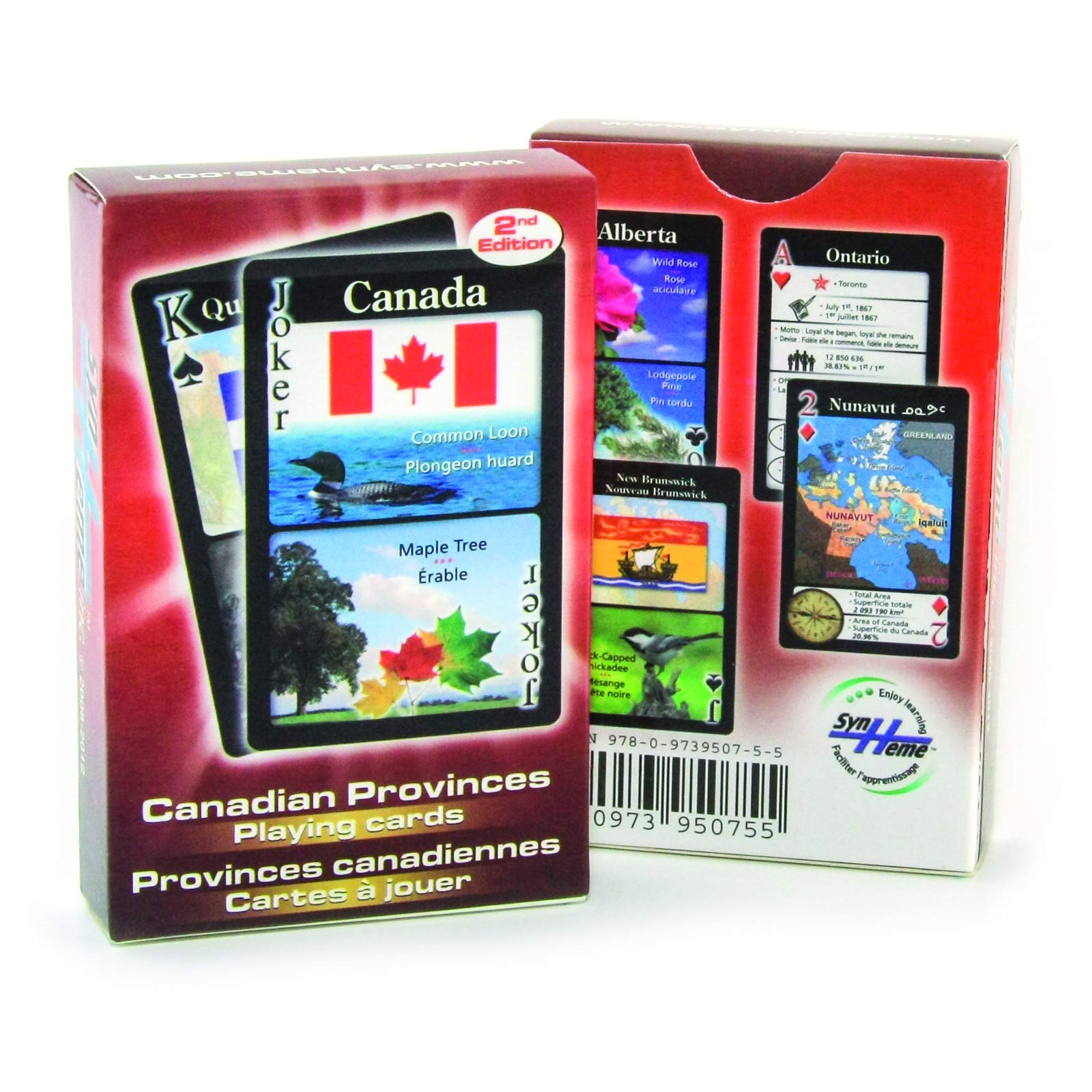 Read Online Canadian Provinces Playing Cards (English, Spanish and French Edition) pdf epub
