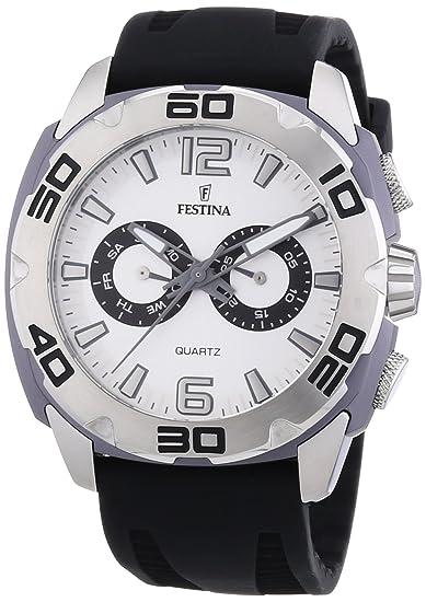Festina F16665/1 - Reloj cronógrafo de cuarzo para hombre, correa de silicona color