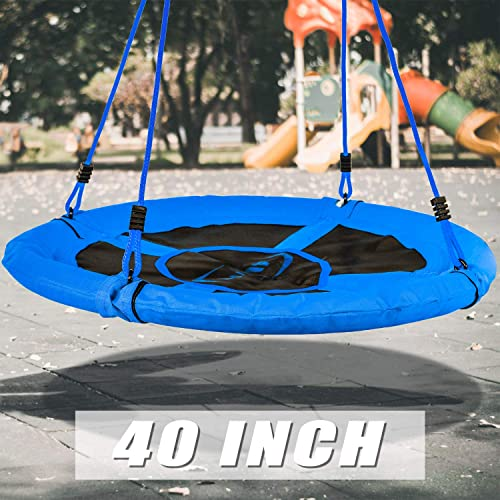 Swing Tree Swing Saucer Tree Height Adjustable Nylon Rope with Padded Steel Frame Indoor Outdoor 40 Inch