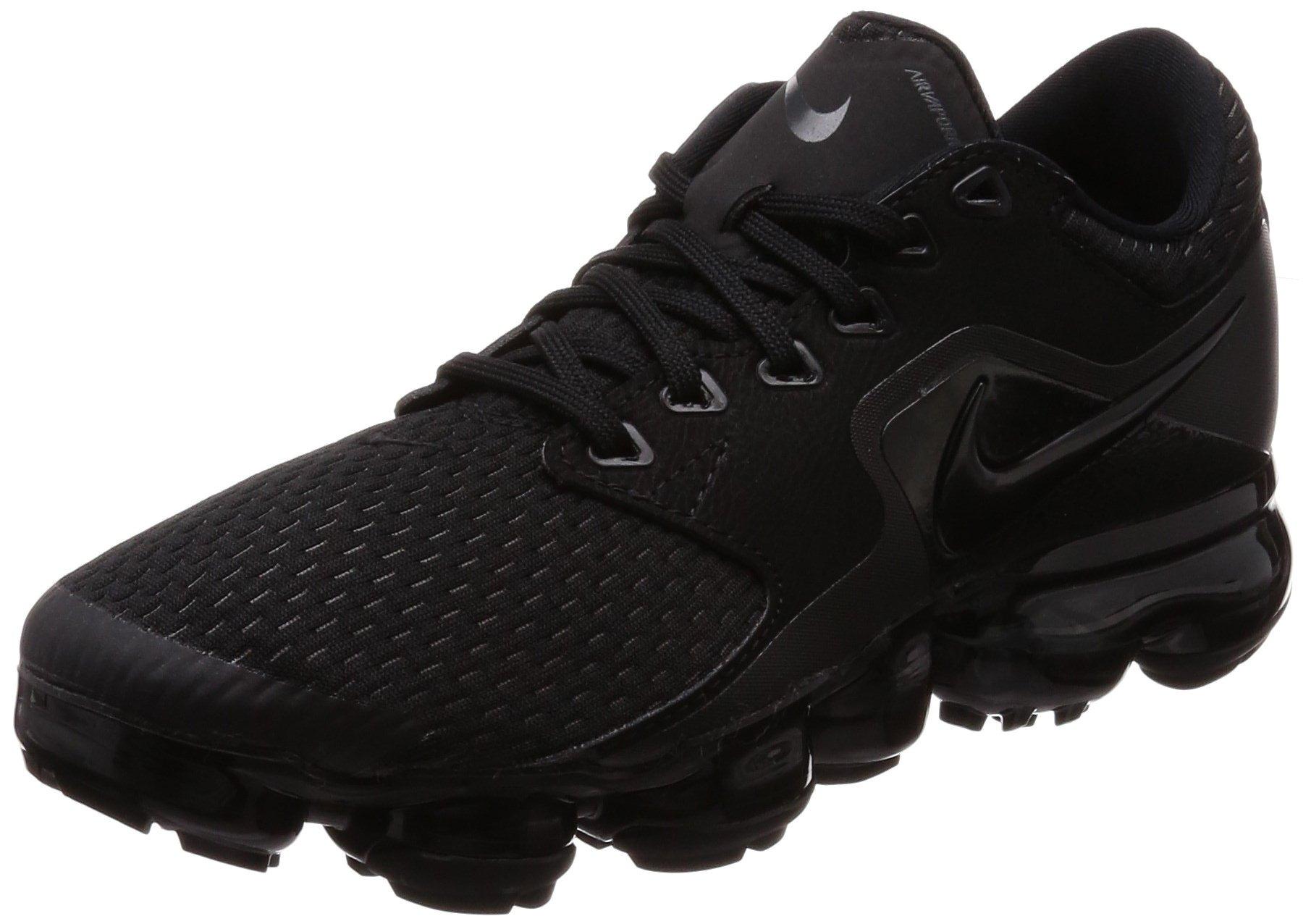NIKE Women's Air Vapormax Running Shoes (8.5, Black/Black-M)