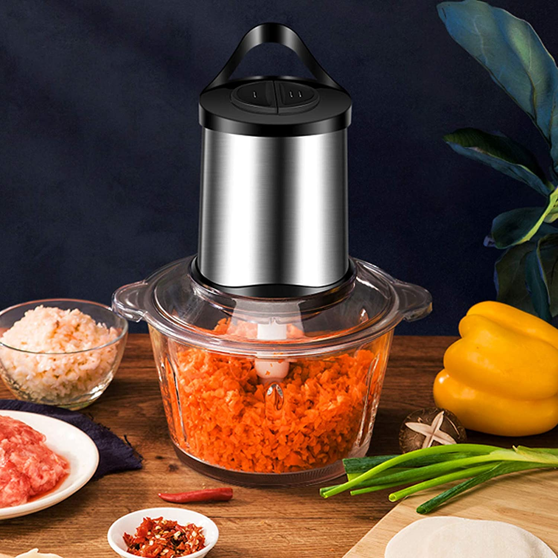 Mini Food Processor,Electric Garlic Chopper,Full-Size Food Processors Blenders Cooking Dining Kitchen Tools Mini Mixer Meat Bread Maker Mincer Onion Gadgets Electric Processor