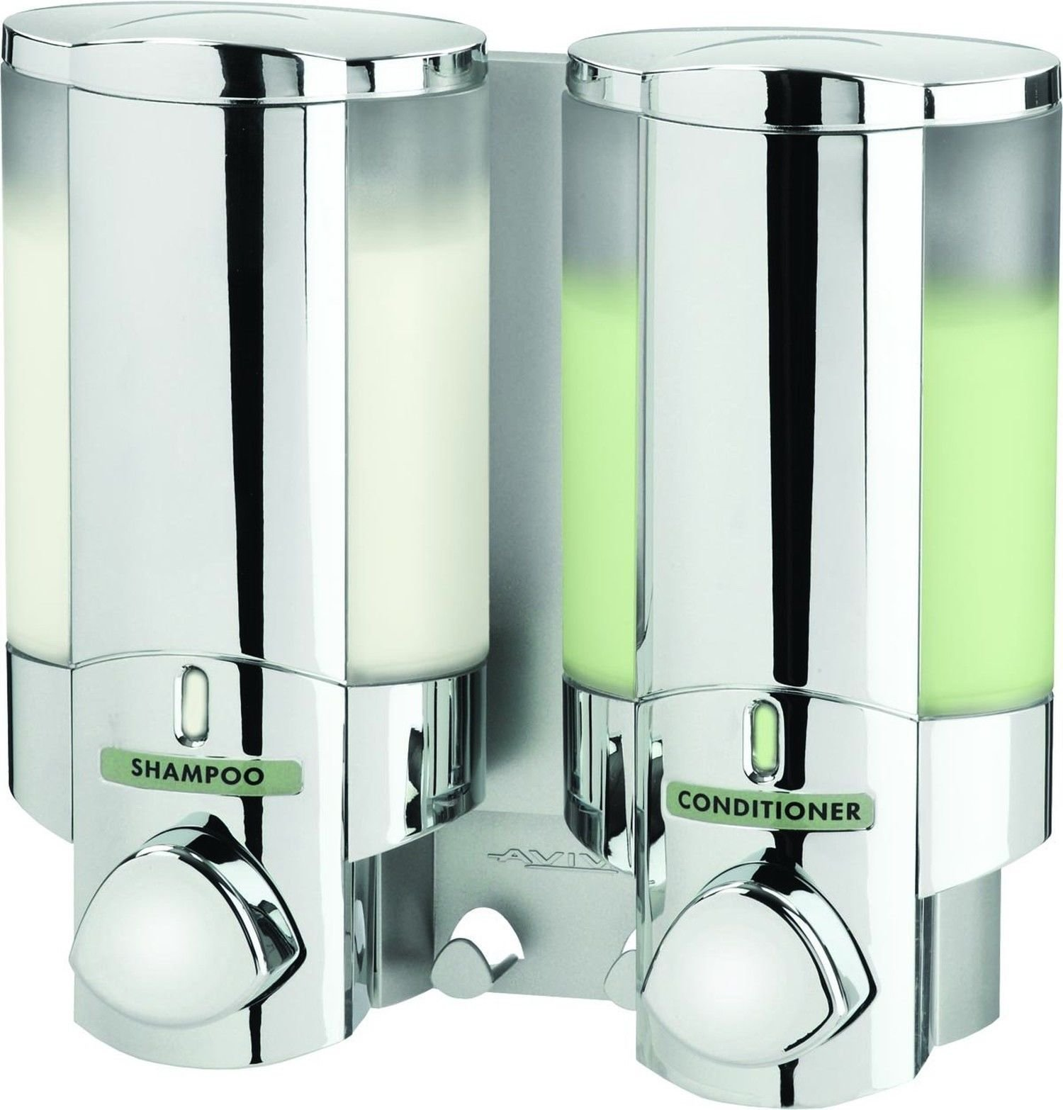 Attractive Design Shampoo Soap Pump Conditioner Dispenser Shower Bathroom Wall Mount Holder new! #32