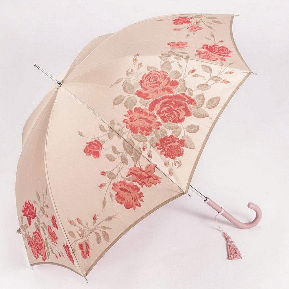 槙田商店 傘 レディース 長 絵おり 薔薇 雨晴兼用 日本製 UVカット 加工 01657814 B00OXZA0YE
