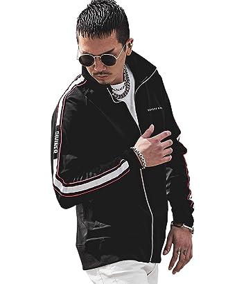 bf0fa8022efbc ディバイナー(DIVINER) 袖ラインスタンドZIPジャケット メンズ アウター ジャケット ジャージ M ブラック